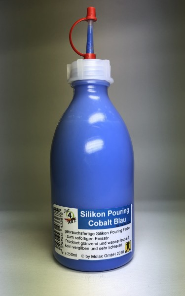 Silicon Pouring 250ml Cobalt Blau