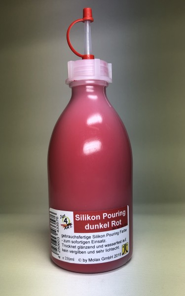Silicon Pouring 250ml Rot dunkel