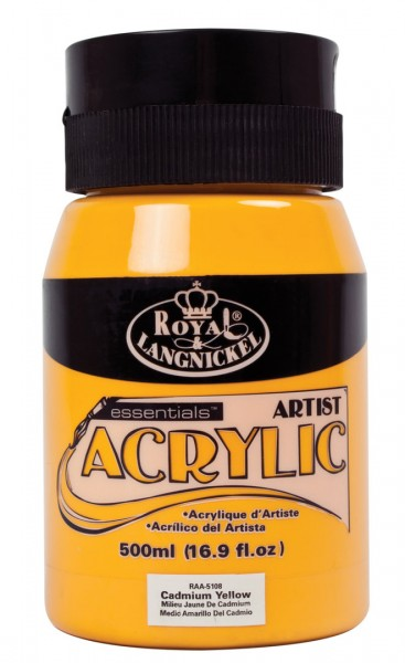 Essentials Acrylic 500ml Cadmium Yellow