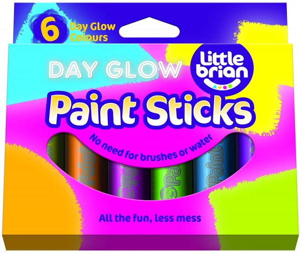 Little Brian Paint Sticks Day Glow 6er Set
