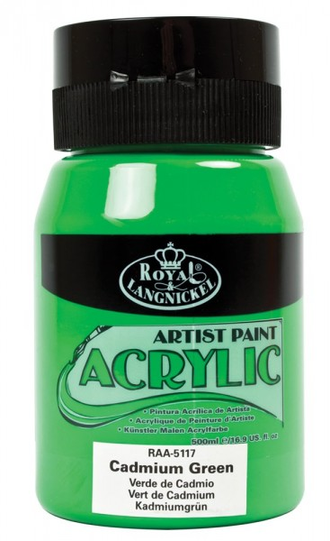 Essentials Acrylic 500ml Cadmium Green