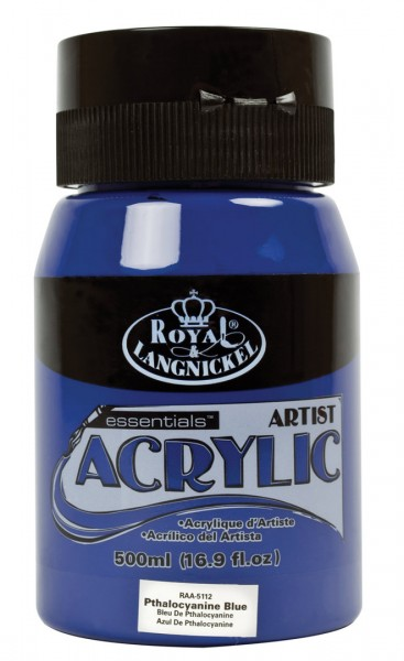Essentials Acrylic 500ml Pthalocaynine Blue