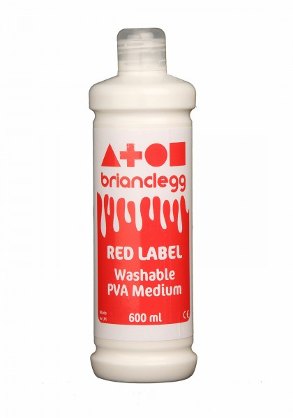 Red Label Washable PVA Medium Single 600ml Bottle -