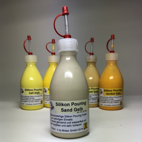 Silicon Pouring 100ml Sand Gelb