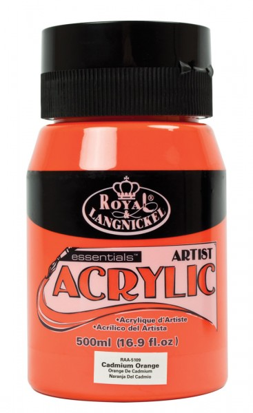 Essentials Acrylic 500ml Cadmium Orange