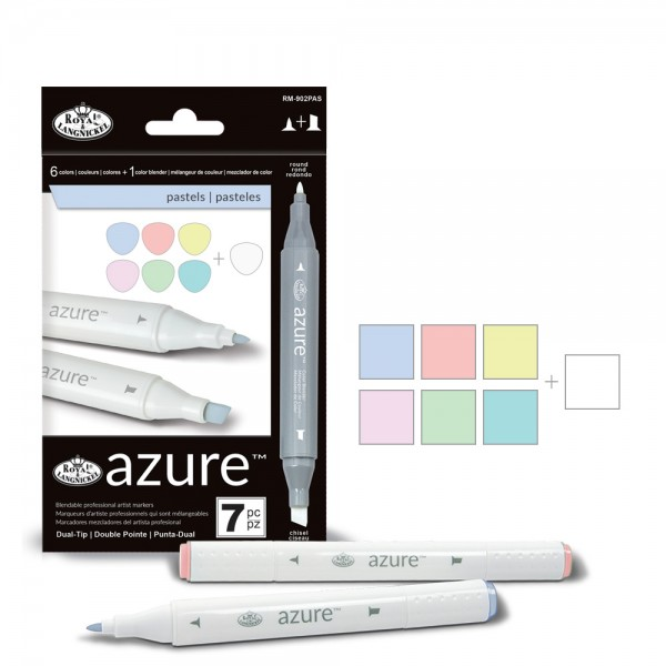 Azure Pastel Color Marker Set